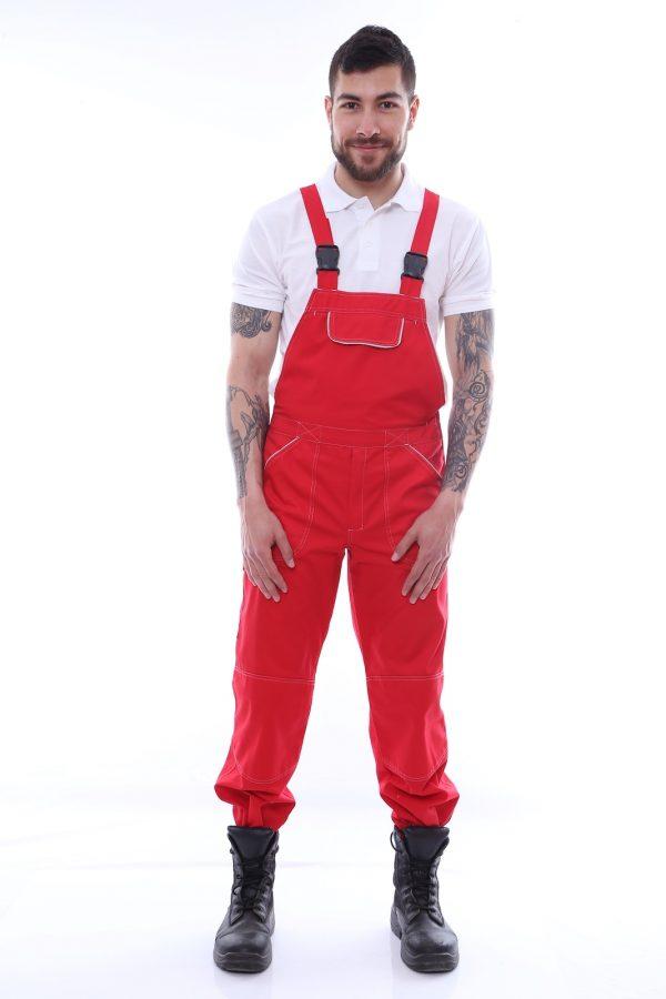 pantalon cu pieptar 100% bumbac