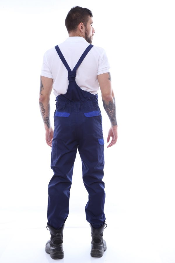 pantalon de salopeta cu garnituri