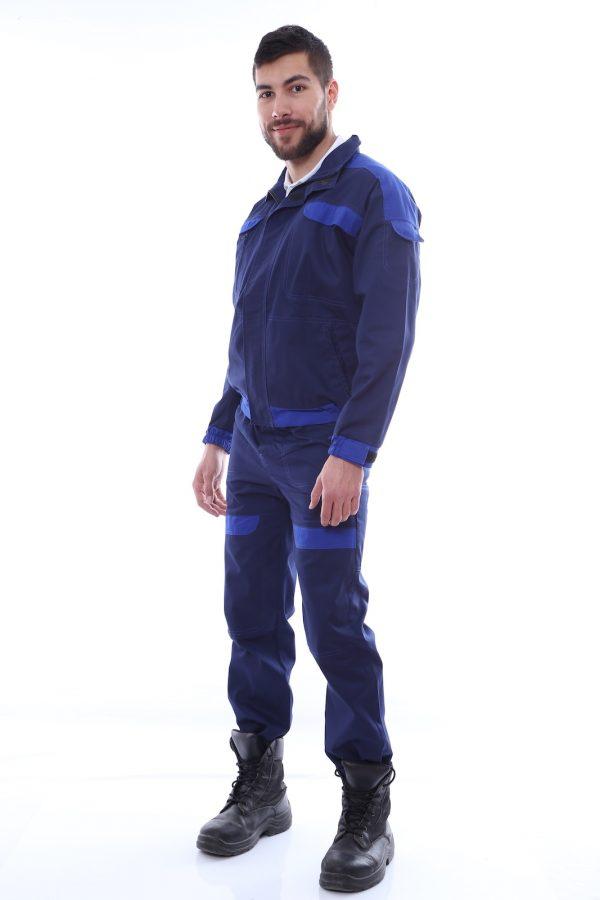 costum de salopeta cu garnituri profil
