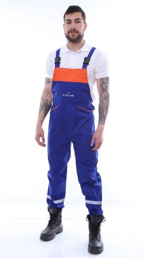 pantalon cu pieptar brodat