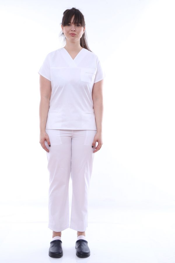 uniforma medicala alba cambrata