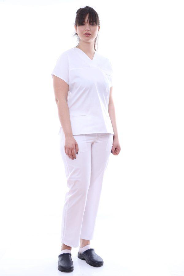 uniforma asitenta alba