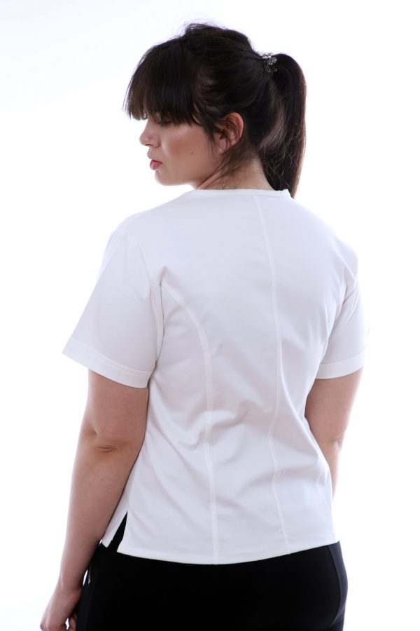 bluza medic alb spate