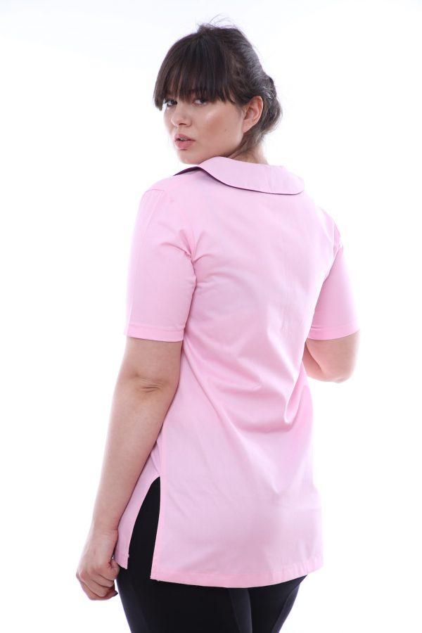 bluza asistenta cu guler rotund