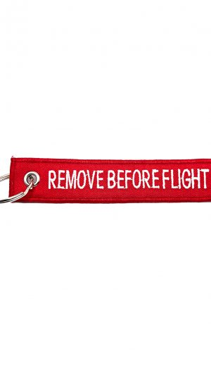 broderie breloc remove before flight