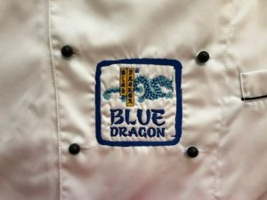broderie tunica bucatar blue dragon