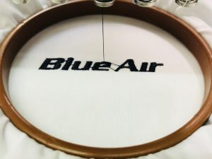 broderie camasa blue air