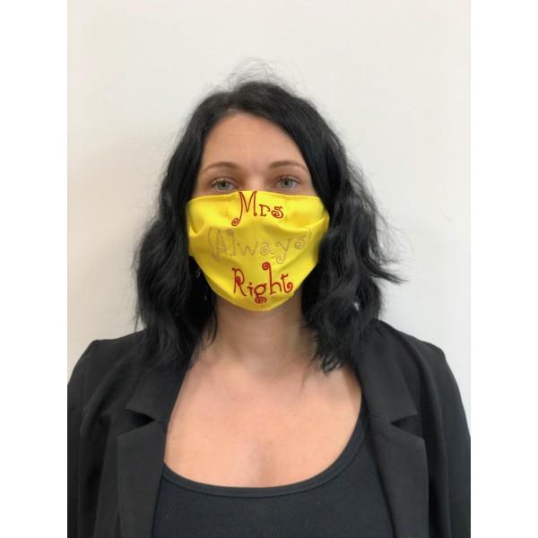 masca refolosibila brodata mrs always