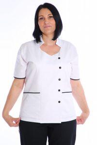 bluza medic cambrta cu capse negre