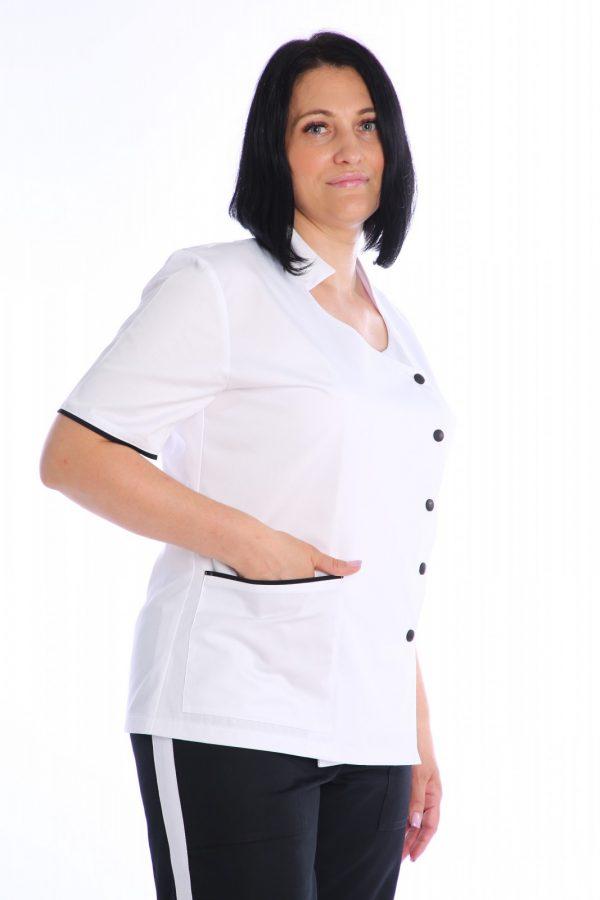 bluza medic cambrata cu buzunare