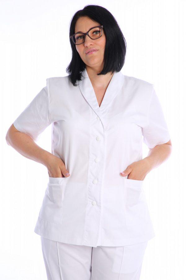 bluza spital cu buzunare aplicate