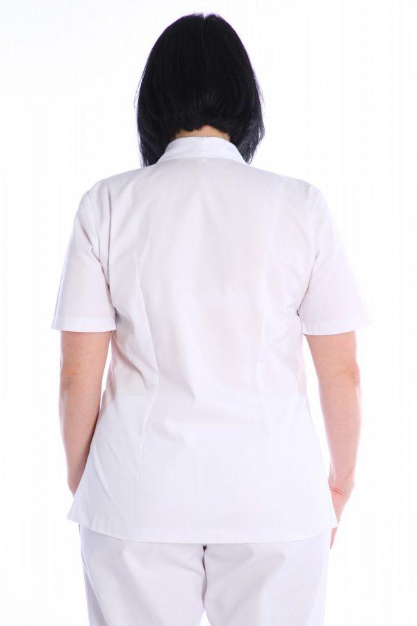 bluza cu guler pentru spital spate