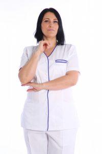 bluza medic cu buzunar la piept