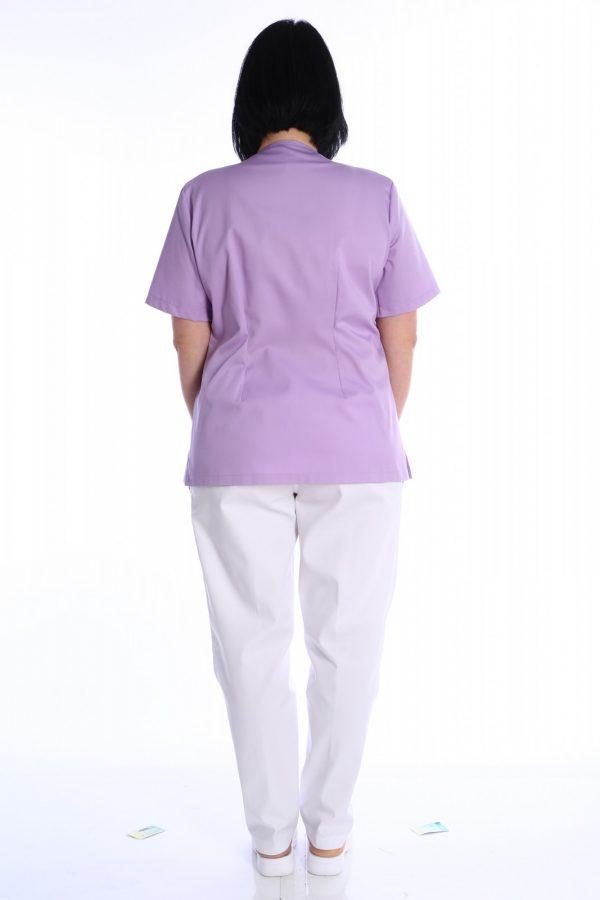uniforma medicala din doua piese lila