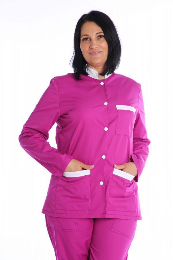 halat medical de dama roz