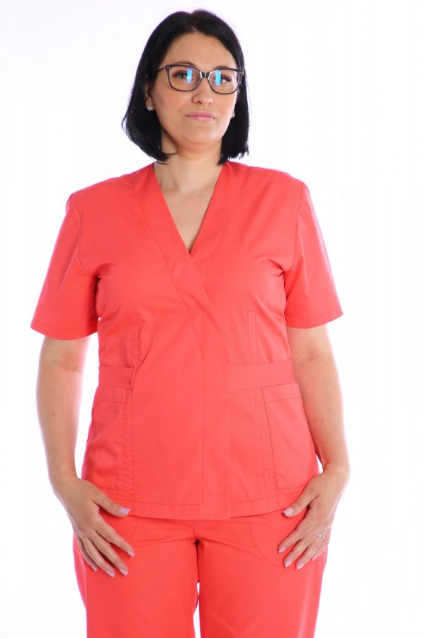 bluza medic petrecuta corai