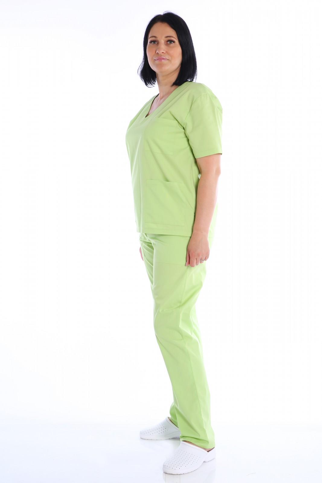 costum medical verde lime