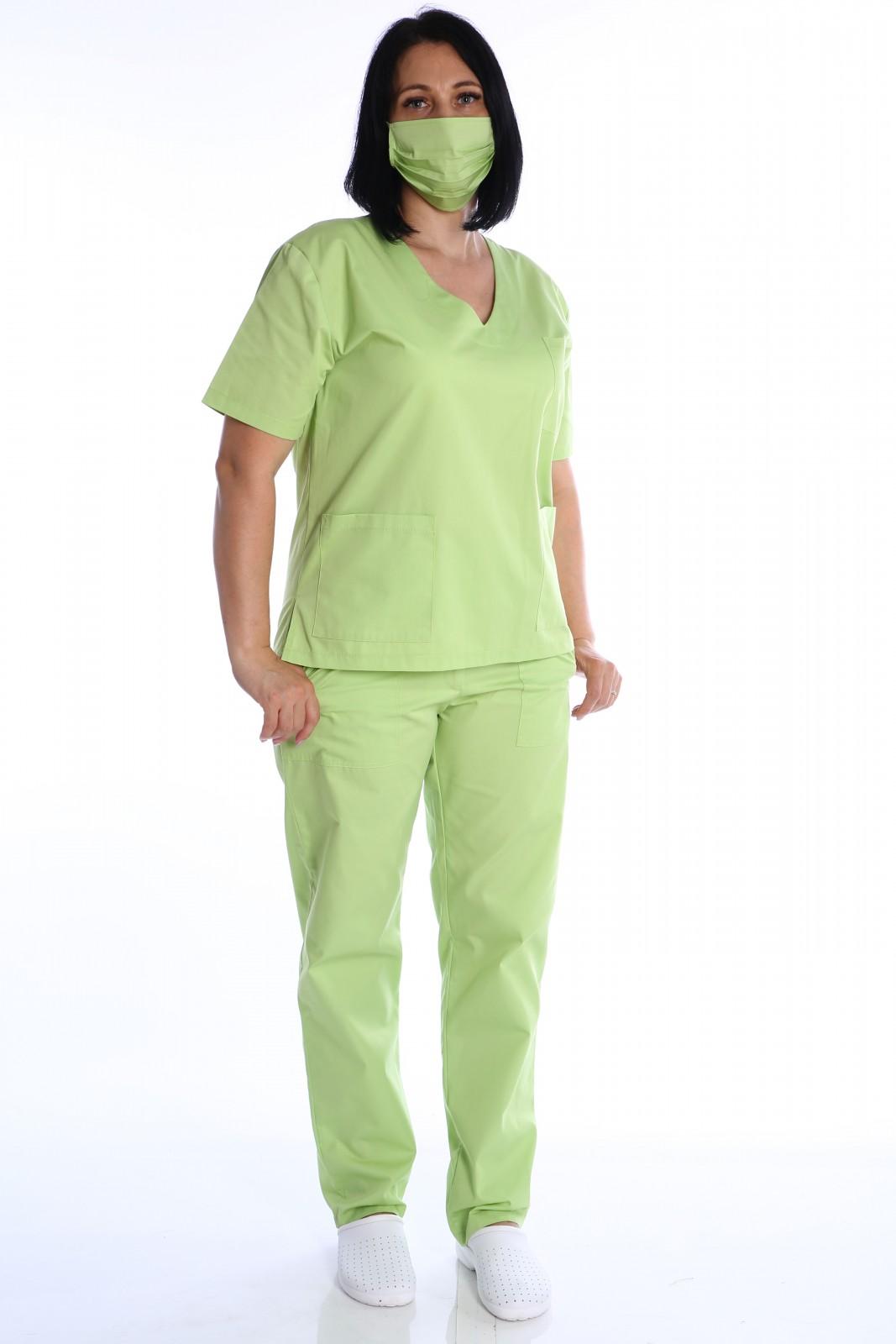 uniforma medicala cu masca de protectie