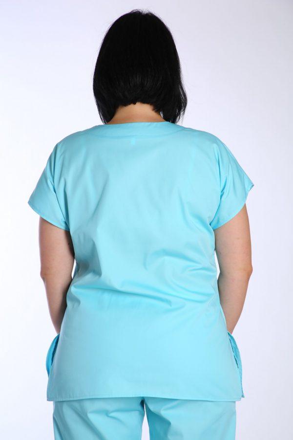 bluza medic cambrata bleu spate
